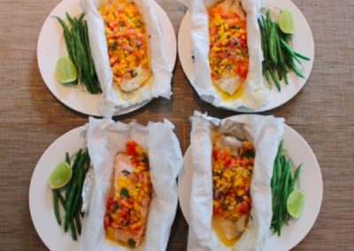 Steamed Snapper with Capsicum Salsa