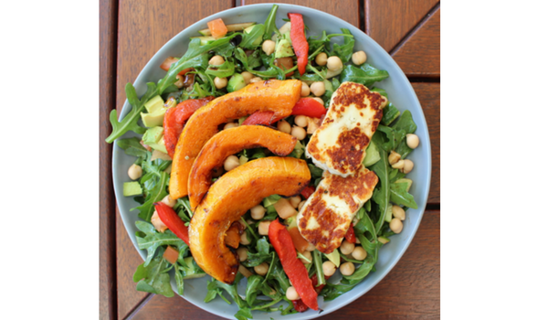 Pumpkin and Capsicum Salad