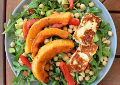 Roasted Pumpkin and Capsicum Salad