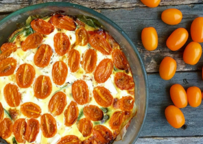 Golden Grape Tomato Frittata
