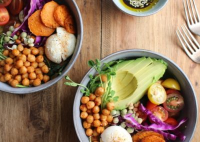 Chickpea and Sweet Potato Rainbow Salad