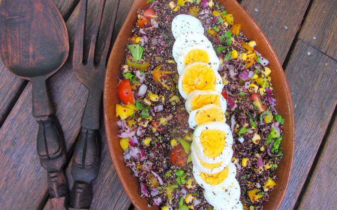 Quinoa & Boiled Egg Salad