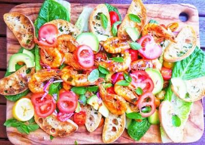 BBQ King Prawn & Cherry Tomato Salad
