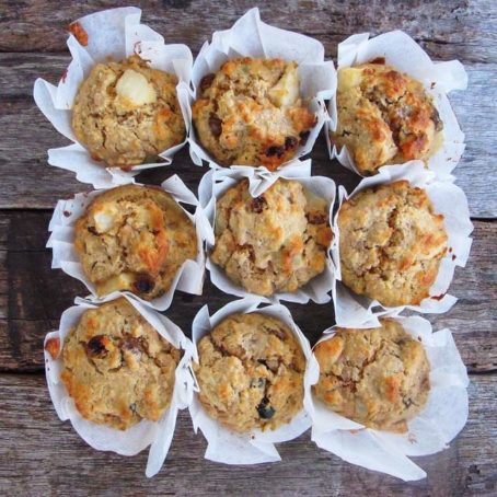 Pear, Apple & Oat Muffins