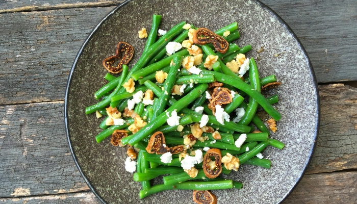 Bean, Walnut & Fig Salad