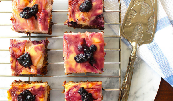 Yoghurt, Blueberry & Passionfruit Cheesecake