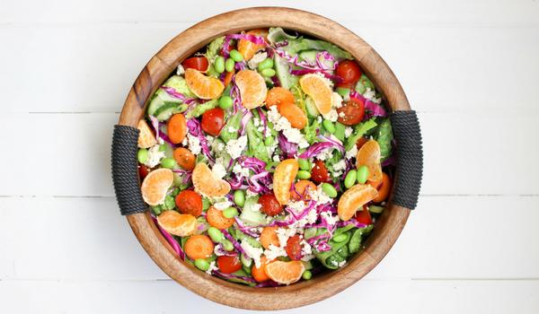 Feta, Tomato and Mandarin Salad